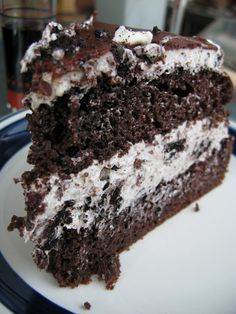 Cookies 'n Cream Cake    I made this scrumptious lovely thing for my dad for Father's Day. My dad loves his sweets, loves chocolate, and l...