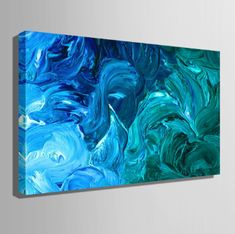 Grab this The Rolling Depths Canvas Painting now for it symbolizes youth and energy. This beautiful, attractive abstract oil painting is going to win your heart