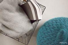 © smallbigidea.com grey blanket and Casalis pouf.