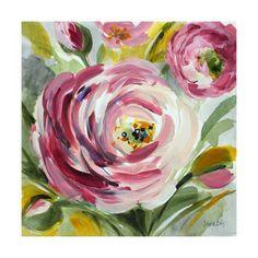 Lanie Loreth Premium Thick-Wrap Canvas Wall Art Print entitled Ranunculus Rosa I, None Floral Artwork, Art Floral, Flower Canvas, Flower Art, Canvas Wall Art, Wall Art Prints, Framed Prints, Canvas Prints, Canvas Canvas