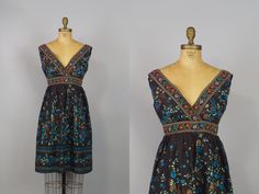 New Bloom Dress / 80s Dress / Floral Dress by babelovesjazz, $115.00