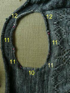 dahlia pickup- short row sleeve shaping