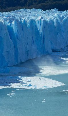 Glacier, Argentina.  Go to www.YourTravelVideos.com or just click on photo for home videos and much more on sites like this.