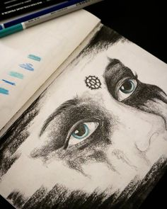 drawing drawings lexa the 100 art heda blue eyes artistic black