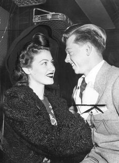 Ava Gardner and first husband Mickey Rooney, c.1940s