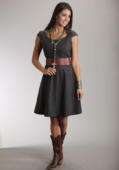 7ce337aa4e000a Stetson® Women s Sophisticated Wool Blend Dress - Grey What about this with  a cute colorful
