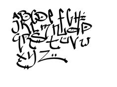 Sketch Graffiti Alphabet Letters A Z With Calligraphy Design On A