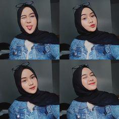Casual Hijab Outfit, Hijab Chic, Hijab Makeup, Hijab Fashion Inspiration, Cute Korean Girl, Selfie Poses, Hijab Tutorial, Beautiful Hijab, Aesthetic Girl
