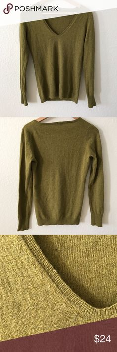 J crew wool angora cashmere olive green sweater S Gently used condition. No holes. No stains. Merino wool viscose angora rabbit hair cashmere blend J. Crew Sweaters V-Necks