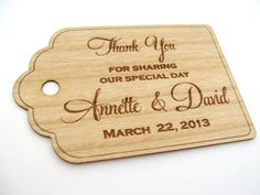 Wooden Tags 50 / Wedding Favor Tags / Wooden Tags / by Talathiel, $30.00
