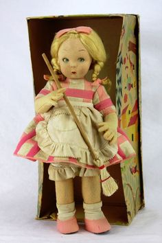Vintage Lenci Doll In Original Box ca1930