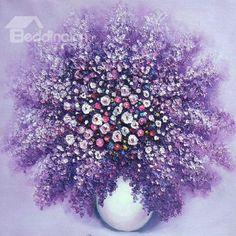 Fantastic Blooming Purple Lavender 1-Piece DIY Diamond Sticker