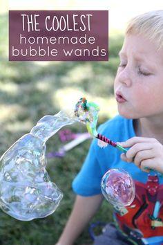 Homemade Bubble Wands for Kids Craft Activities For Kids, Toddler Activities, Projects For Kids, Outdoor Activities, Bubble Activities, Preschool Science, Preschool Learning, Summer Activities, Craft Ideas