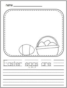 Spring Writing for Kinders. Packet of kindergarten writing activities for the spring season.