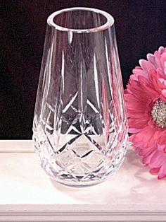 Vintage Waterford Crystal Lismore Flower Rose Vase