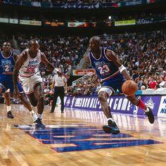 Michael Jordan Wearing The Aqua Air 8 In 1993 NBA All Star Game