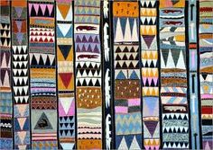 african pattern- The earliest surviving sub-Saharan African textiles are cloth fragments and parchment fragments that date to the ninth century BC. African textiles are a part of African cultural heritage that came to America along with the slave trade. Cultural Patterns, Ethnic Patterns, Textile Patterns, Print Patterns, African Patterns, Japanese Patterns, Floral Patterns, Abstract Pattern, Pattern Art
