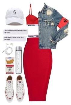 """""""Bad Decisions"""" by princessraeee ❤ liked on Polyvore featuring Moschino, Posh Girl, AMIRI, Converse, Forever 21 and ArianaGrande"""