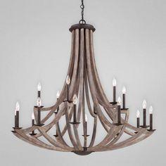 Aden Star Ltd LLC dba 1020 Decor - Arcata Bronze Iron and Wood 18 Light Chandelier, $7,420.00 (http://1020glassart.com/arcata-bronze-iron-and-wood-18-light-chandelier/)