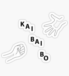 Exo Stickers, Phone Stickers, Kawaii Stickers, Printable Stickers, Cute Stickers, Korean Words Learning, Korean Language Learning, Fille Anime Cool, Kpop Logos