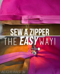 DIY Leather Pillow Tutorial & How To Sew A Zippered Pillow Cover (The EASY Way!)