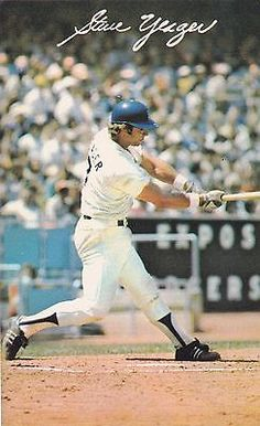 1970's Los Angeles Dodgers Steve Yeager Team Issued Baseball Postcard