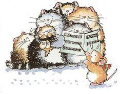 *Cats Carolers*