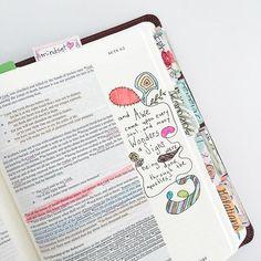 A bit of Bible doodling this morning.  Love Bible journaling.