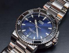 ORIS   Aquis Date Deep Blue Gradient Dial 43mm