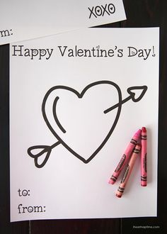 Free Valentine coloring pages ...perfect kids activity for Valentine's Day!