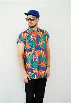 Vintage Hawaiian print shirt