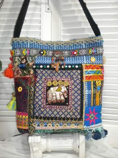 FREE Shippng to USA - Maycas OAK Jewelled Boho Gypsy Bohemian Ethnic  Shoulder Bag. $150.00, via Etsy.