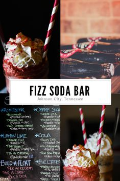 Fizz Soda Bar - One of our favorite treats in Johnson City, TN. Johnson City Tennessee, Soda Floats, Float Trip, Tri Cities, Summer Treats, Lemon Lime, Root Beer, Vacation Spots, Vacation Ideas