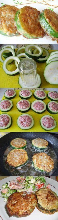 Кабачки с фаршем в кляре, готовим с любовью   Рецепты моей мамы