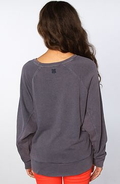 Insight The Wear Me Down Fleece Crew Sweatshirt in Inky Blue : MissKL.com - Cutting Edge Women's Fashion, Accessories and Shoes.