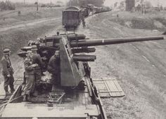 88mm Flak on railway car