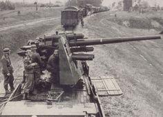 88mm Flak on railway car