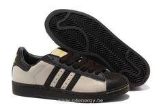 Hommes Adidas Chaussures Superstar II CrèMe De Café Or