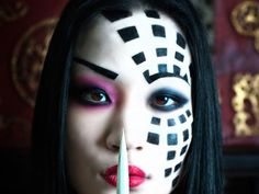 sinister kabuki 40 Perfect Body Painting on Female Persons