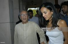 Anoushka Shankar with her father sitar maestro, Pt. Ravi Shankar in New Delhi, India