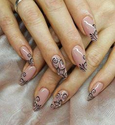 Beautiful but simple nail art … - Nailart Nail Art Designs, Simple Nail Designs, Nails Design, Cute Nails, Pretty Nails, Nails 2018, Latest Nail Art, Nagel Gel, Fabulous Nails