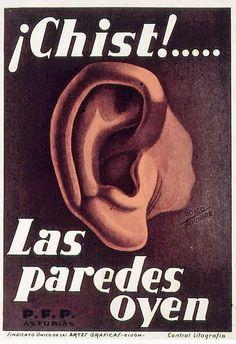 """""""Chist!... Las paredes oyen"""" (cartel)"""