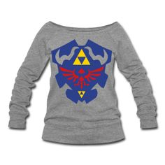 Hylian Shield Womens Wide Neck Sweatshirt. Want.