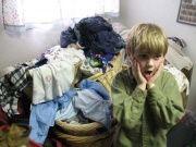 Teaching children to do laundry.....like this.