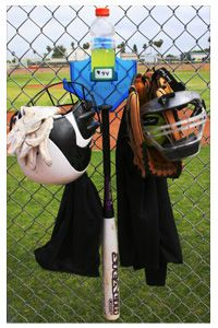 Keeps the dug out clean! No looking around for a glove or hat when it is time to retake the field. Makes any baseball mom's job easier in the dugout.