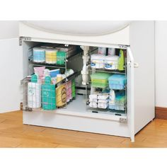 洗面所収納 アイディア Kitchen Organisation, Organisation Hacks, Bathroom Organization, Bathroom Storage, Kitchen Storage, Small Bathroom, Kitchen Interior, Room Interior, Interior Design Living Room
