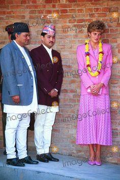 Princess Diana-Nepal visit- with late crown prince Dipendra Shah