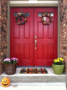Home Front On Pinterest Front Doors Red Front Doors And Planters