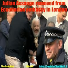 Julian Assange arrested at Ecuadorian embassy in London The Guardian, About Uk, How To Remove, London, Youtube, Big Ben London, Youtubers, Youtube Movies
