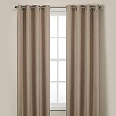Rockport Blackout Grommet 84-Inch Window Curtain Panel in Linen. 50-inch width